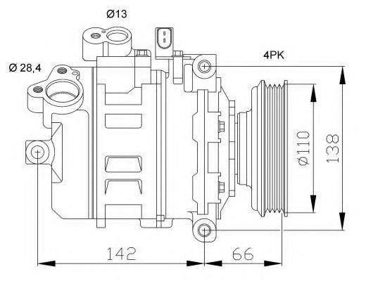 NRF 32106G Компрессор, кондиционер