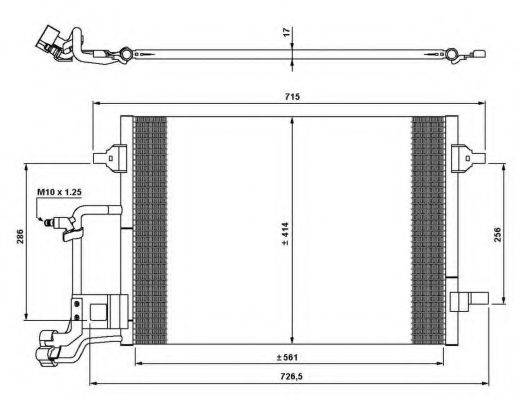 NRF 35642 Конденсатор, кондиционер