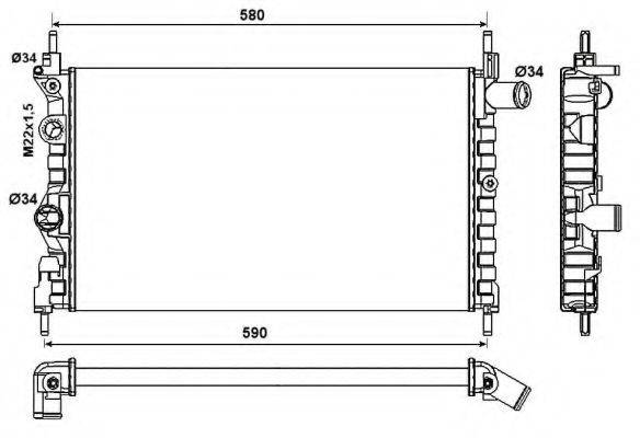 NRF 54682 Радиатор, охлаждение двигателя