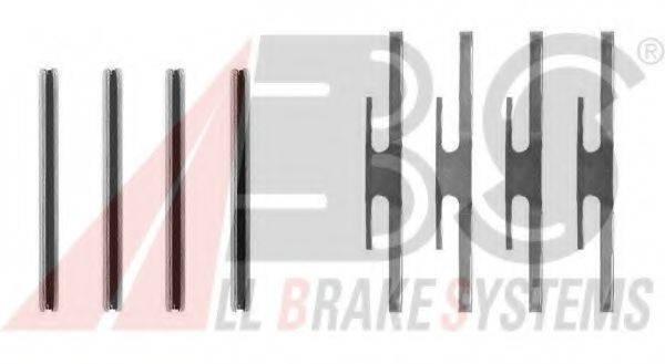 A.B.S. 0975Q Комплектующие, колодки дискового тормоза