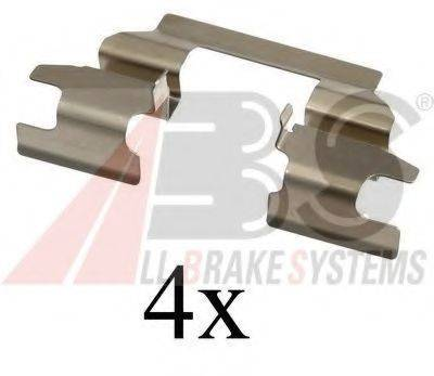 A.B.S. 1625Q Комплектующие, колодки дискового тормоза
