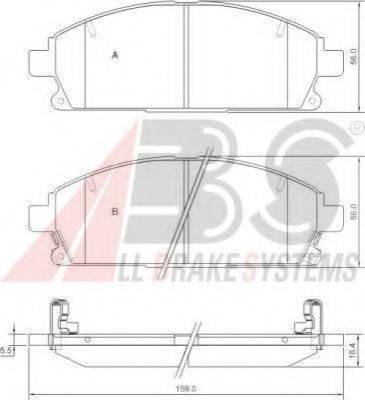 A.B.S. 37081 Комплект тормозных колодок, дисковый тормоз