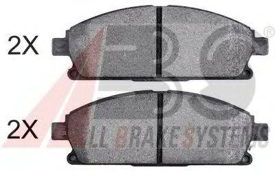 A.B.S. 37081OE Комплект тормозных колодок, дисковый тормоз