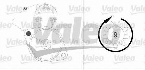 VALEO 458211 Стартер