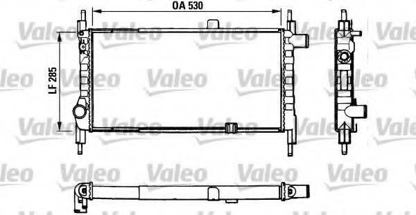 VALEO 883857 Радиатор, охлаждение двигателя