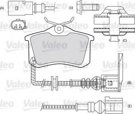 VALEO 598463 Комплект тормозных колодок, дисковый тормоз