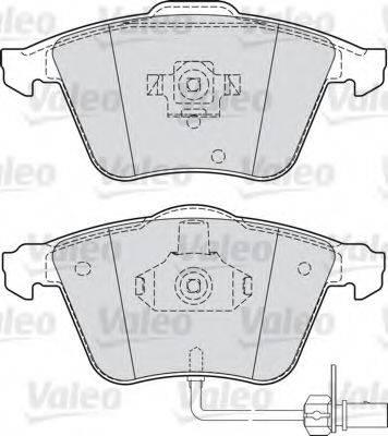VALEO 598750 Комплект тормозных колодок, дисковый тормоз