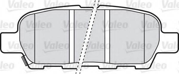 VALEO 598672 Комплект тормозных колодок, дисковый тормоз