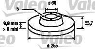 VALEO 197124 Тормозной диск