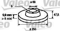 VALEO 197032 Тормозной диск