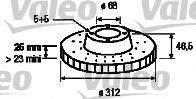 VALEO 186758 Тормозной диск