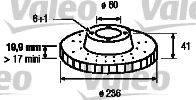 VALEO 186188 Тормозной диск