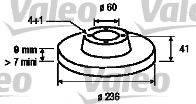 VALEO 186186 Тормозной диск
