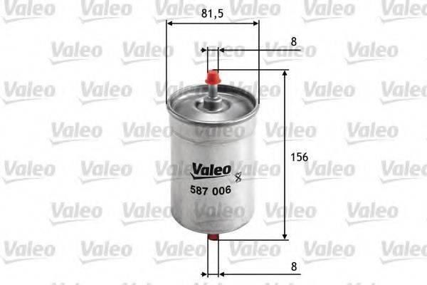 VALEO 587006 Топливный фильтр