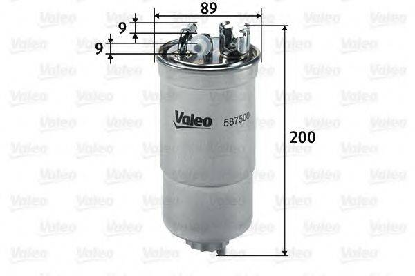VALEO 587500 Топливный фильтр