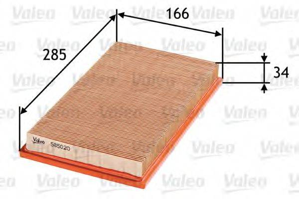 VALEO 585020 Воздушный фильтр