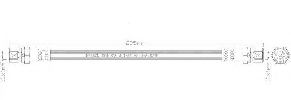 REMKAFLEX 2185 Тормозной шланг