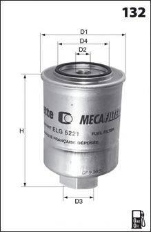 MECAFILTER ELG5370 Топливный фильтр