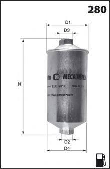 MECAFILTER E11 Топливный фильтр