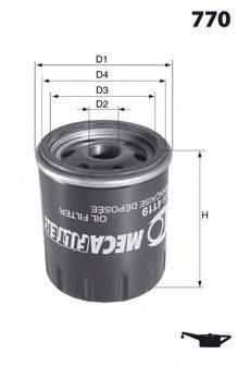 MECAFILTER ELH4130 Масляный фильтр