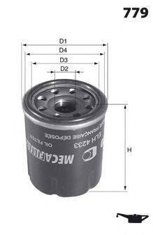 MECAFILTER ELH4440 Масляный фильтр