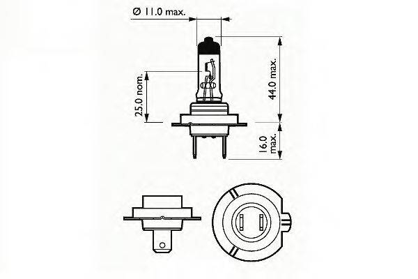 SCT GERMANY 202907 Лампа накаливания, фара дальнего света; Лампа накаливания, основная фара; Лампа накаливания, противотуманная фара; Лампа накаливания, основная фара; Лампа накаливания, фара дальнего света; Лампа накаливания, противотуманная фара