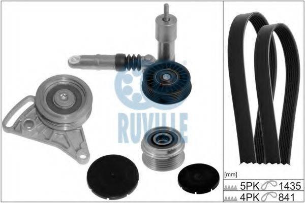 RUVILLE 5548081 Поликлиновой ременный комплект