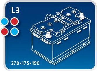 IPSA TME65 Стартерная аккумуляторная батарея