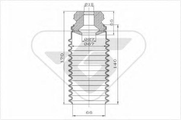 HUTCHINSON KP052 Пылезащитный комплект, амортизатор