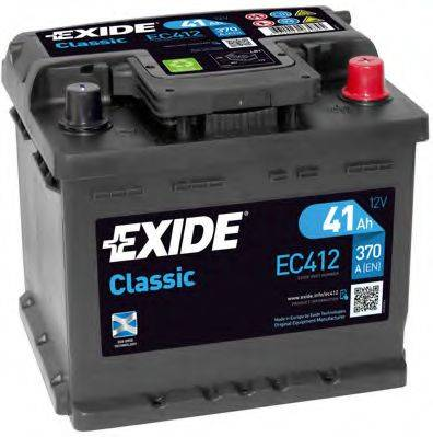 EXIDE EC412 Стартерная аккумуляторная батарея; Стартерная аккумуляторная батарея