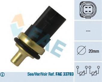 FAE 33781 Датчик, температура охлаждающей жидкости