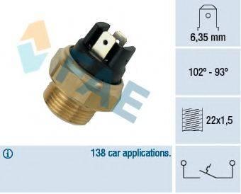 FAE 37410 Термовыключатель, вентилятор радиатора