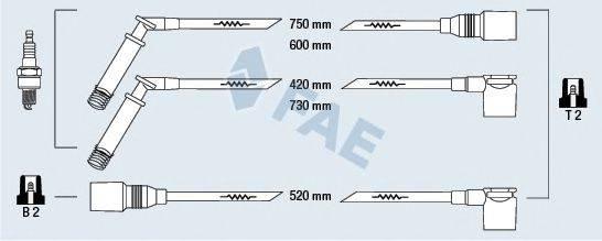 FAE 83800 Комплект проводов зажигания