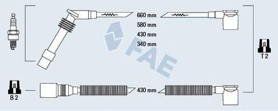 FAE 85105 Комплект проводов зажигания
