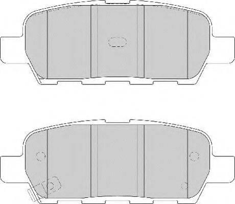 NECTO FD7139A Комплект тормозных колодок, дисковый тормоз