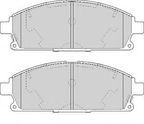 NECTO FD7061A Комплект тормозных колодок, дисковый тормоз