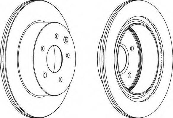 NECTO WN1507 Тормозной диск