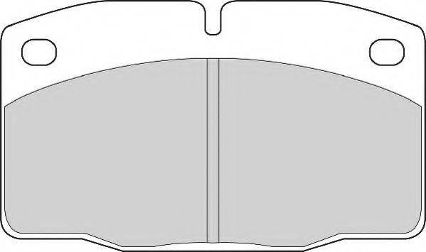 NECTO FD817N Комплект тормозных колодок, дисковый тормоз