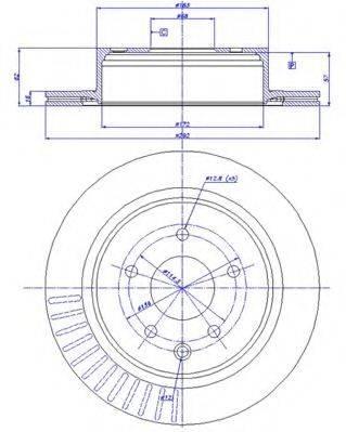 CAR 1421277 Тормозной диск