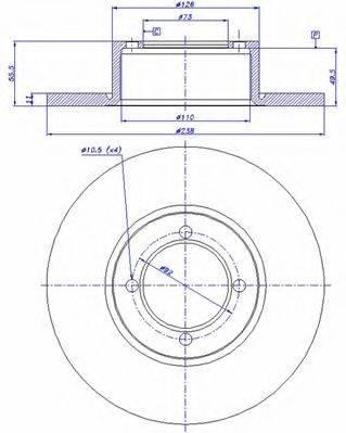 CAR 142500 Тормозной диск