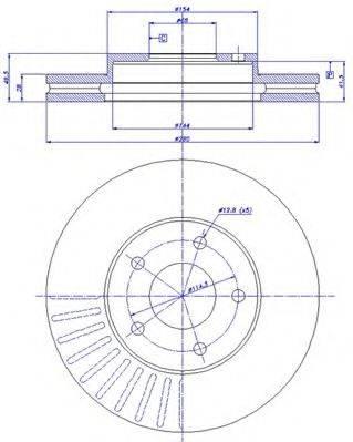 CAR 142601 Тормозной диск