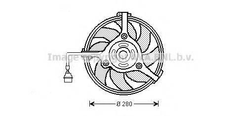 AVA QUALITY COOLING AI7510 Вентилятор, охлаждение двигателя