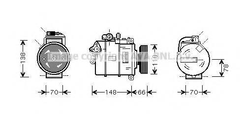 AVA QUALITY COOLING AIAK247 Компрессор, кондиционер