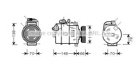 AVA QUALITY COOLING AIK247 Компрессор, кондиционер
