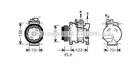 AVA QUALITY COOLING AIK261 Компрессор, кондиционер