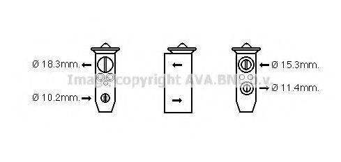 AVA QUALITY COOLING DN1359 Расширительный клапан, кондиционер
