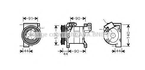 AVA QUALITY COOLING DNK322 Компрессор, кондиционер