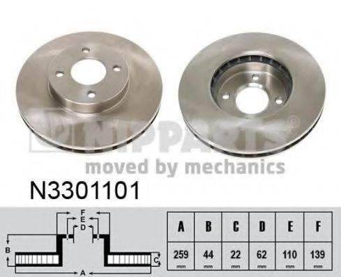 NIPPARTS N3301101 Тормозной диск
