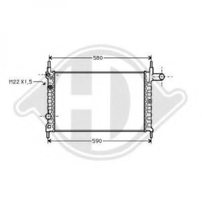 DIEDERICHS 8501622 Радиатор, охлаждение двигателя