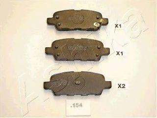 ASHIKA 5101154 Комплект тормозных колодок, дисковый тормоз